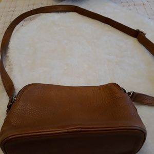 Vintage Coach pebbled leather cross body purse
